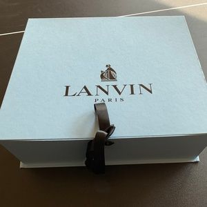New Women's Lanvin Paris heels Dark blue with box